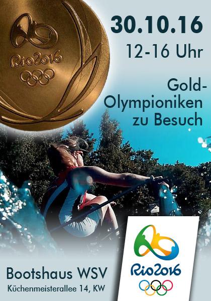 Goldiger Besuch von Olympioniken aus Rio